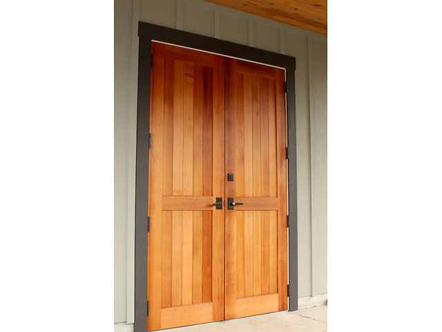 Mortise and tenon cedar doors