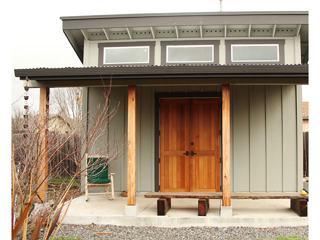 Studio doors, western red cedar